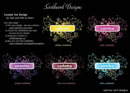 scrollwork custom design