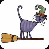 Broomstick kitty by Corrie Kulpers