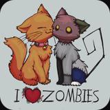 I <3 Zombie Kittys by Kaija